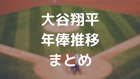 大谷翔平年俸推移まとめ!