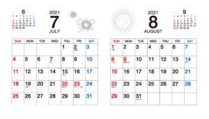 7月8月カレンダー