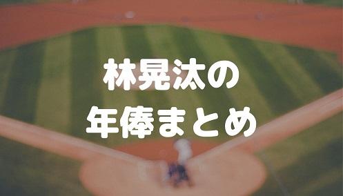 林晃汰の年俸まとめ