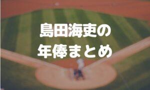 島田海吏の年俸まとめ